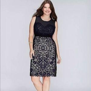 Lane Bryant Sheath Lace/Mesh Dress